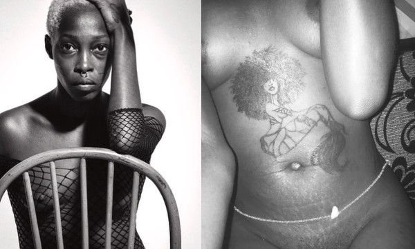 Nigerian model with tribal marks, Adetutu shows off her pubic hair lindaikejisblog
