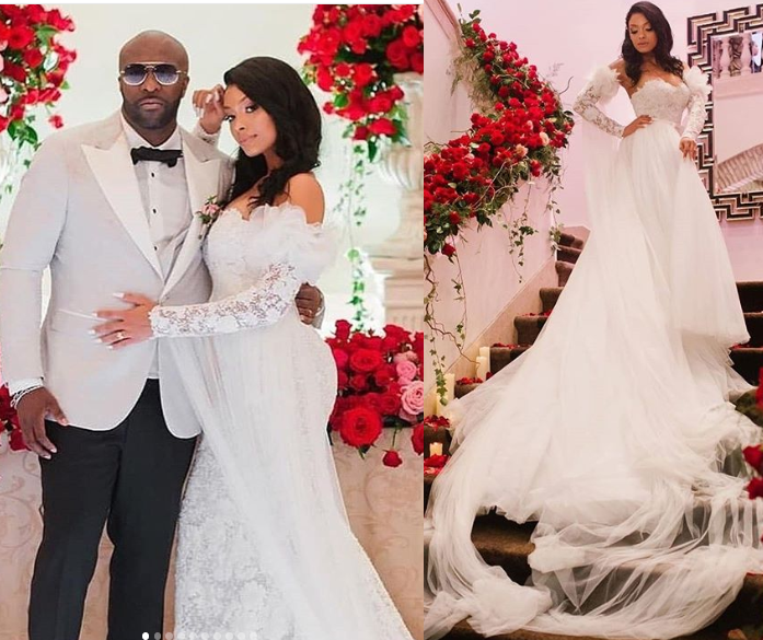 DR Congo singer Kaysha weds his stunning Guinea-Bissauan girlfriend Olaj Arel in Portugal (Photos)