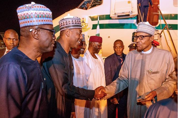 President Buhari arrives Abuja after participating in TICAD7 lindaikejisblog 2