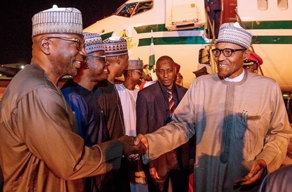 President Buhari arrives Abuja after participating in TICAD7 lindaikejisblog 3