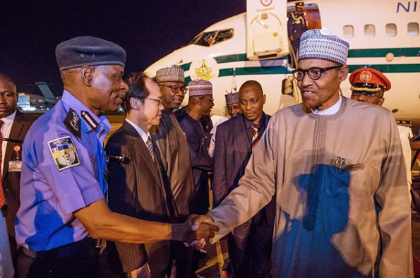 President Buhari arrives Abuja after participating in TICAD7 lindaikejisblog 4
