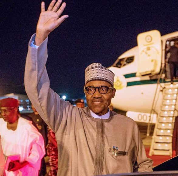 President Buhari arrives Abuja after participating in TICAD7 lindaikejisblog 5