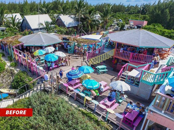 Hurricane Dorian destroys beach bar in Bahamas where Justin Bieber celebrated engagement lindaikejisblog 1