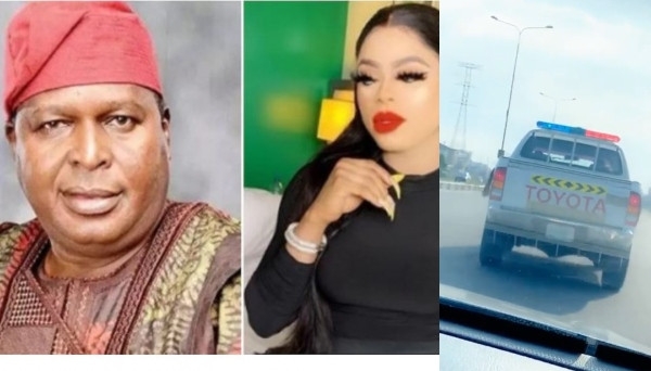 Bobrisky shows off his police escort as NCAC boss, Olusegun Runsewe reveals he gave the order to shut down his birthday lindaikejisblog