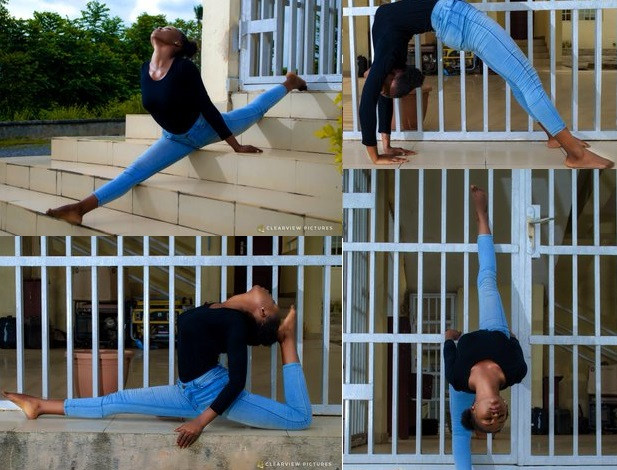 Young Nigerian lady shows off her incredible flexibility in new photos
