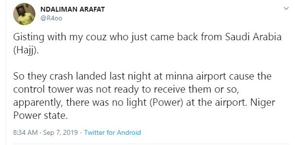 Plane conveying pilgrims crash lands in Niger lindaikejisblog 2