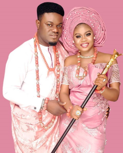 My Flatmates star, MC Pashun holds his traditional marriage lindaikejisblog 1