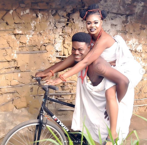 My Flatmates star, MC Pashun holds his traditional marriage lindaikejisblog 3