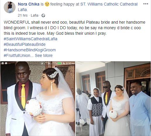 Beautiful lady marries a blind man in Nasarawa State lindaikejisblog 1