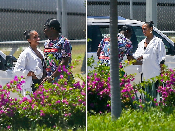 Diddy, 49 and 'girlfriend' Lori Harvey, 22, spark pregnancy rumors as the rap mogul is spotted rubbing her belly on vacation in Mexico (Photos)