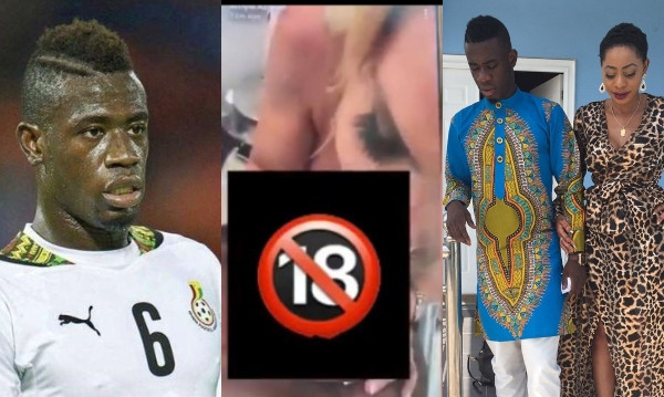 Ghanaian footballer, Afriyie Acquah accidentally live-streams getting a blow job from a white woman on Snap Chat, ex-wife reacts lindaikejisblog