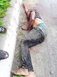 Soldiers shoot one of the armed robbers who trailed Bayelsa Deputy Governor's brother from a bank and made away with his N1.5 million (photos)