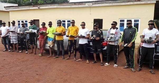 EFCC arrests 13 yahoo boys in Enugu lindaikejisblog