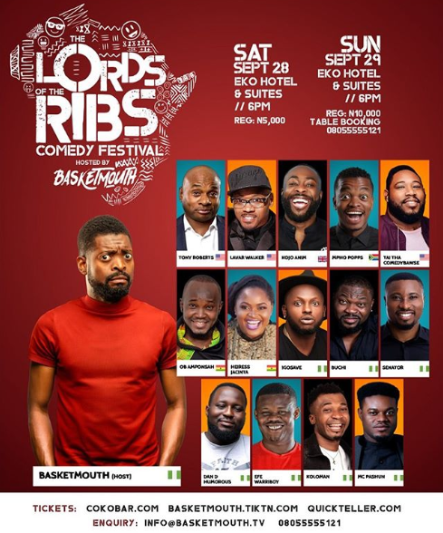Bovi joins list of 'frenemies' stopping Basketmouth's advert ahead of Lord Of The Ribs comedy festival lindaikejisblog