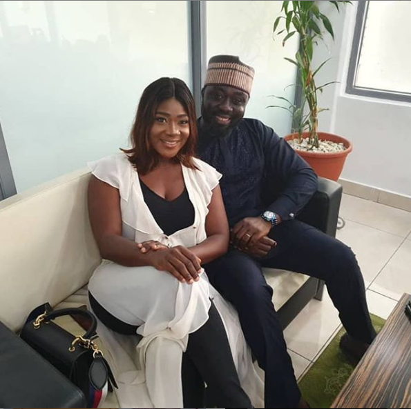 'My Strenght and Pillar' - Mercy Johnson praises her husband Prince Okojie as she shares lovely photo of them