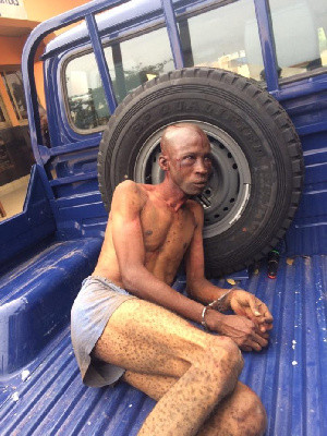 Nigerian man was wrongly accused of being a kidnapper and beaten - Ghana Police lindaikejisblog 1
