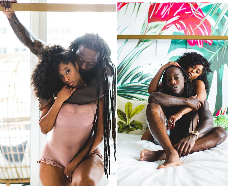 Rapper Ace Hood and his fiancee Shelah Marie all loved-up in steamy photos