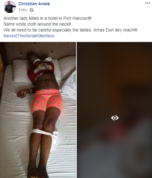 Another lady killed in Port Harcourt with white handkerchief tied on her neck lindaikejisblog 1