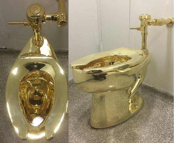 Burglars steal solid gold toilet worth 1milion in a raid on Blenheim Palace (Photos)