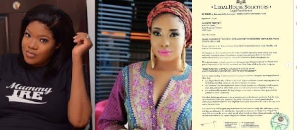 It might be ideal to let the pig know it belongs in the pen - Toyin Abraham says as she serves a defamatory lawsuit notice to Lizzy Anjorin lindaikejisblog