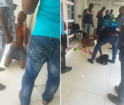 Photos: Two men arrested after pretending to be customers only to rob a mobile phone store in Lagos