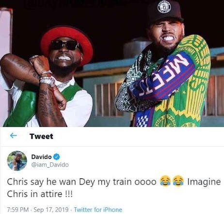#Assurance202: Chris Brown sayshe wants to be on my groomsmen train - Davido