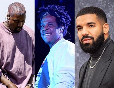 Kanye West tops Jay-Z and Drake to become Forbes 2019 highest paid hip-hop act lindaikejisblog