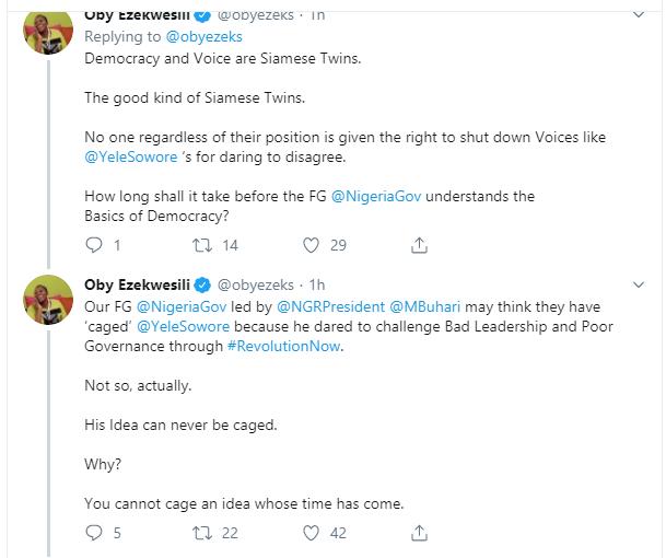 You may cage Sowore but not his idea  Oby Ezekwesili lindaikejisblog 2