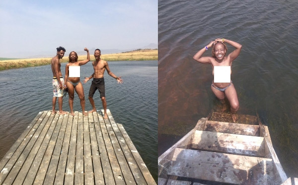 We have been wrong by covering our breast - TV host Ntsiki Mazwai says as she goes naked while swimming with male friends lindaikejiblog