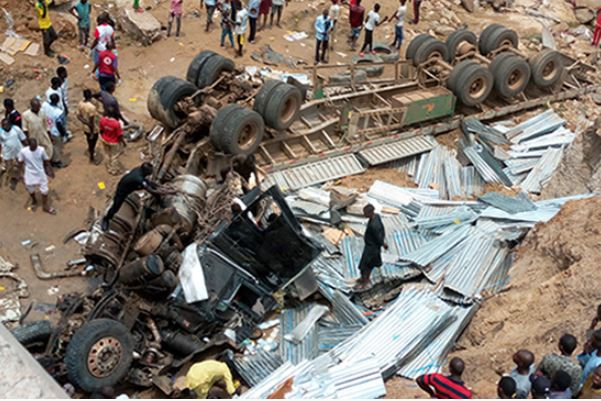 Photo: Fataltruck accident leaves six people dead in Gombe State