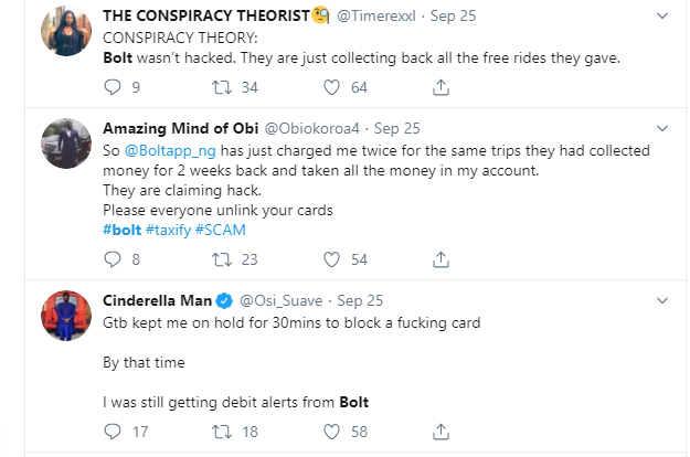 Bolt reacts to alleged server hack as passengers receive multiple debit alerts for trips they never took lindaikejisblog  1