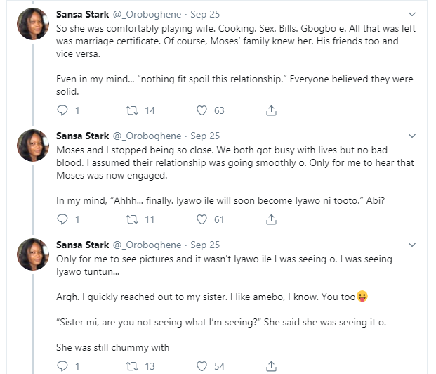 Lady narrates what happened after her older friend left his girlfriend of 3 years to marry a virgin and 'virtuous woman' he dated for 6 months lindaikejisblog 2
