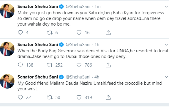GovernorEl-Rufai drags Shehu Sani, says 'he can't be employed in the state civil service'