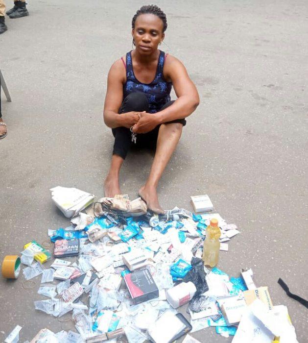 Lagos Task Force arrests prostitutes at Mile 2 brothel lindaikejisblog 2