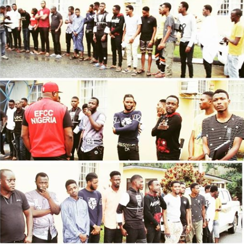 53 'Yahoo Yahoo' boys arrested in Lagos, Abuja andEnugu by EFCC in massive crackdown (Photos)