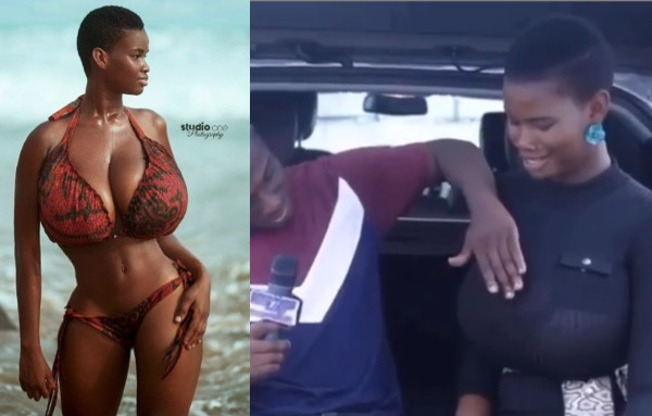 Pamela Odame allows interviewer to touch her boobs, says she can last for 10 rounds and 2 hours during sex lindaikejisblog