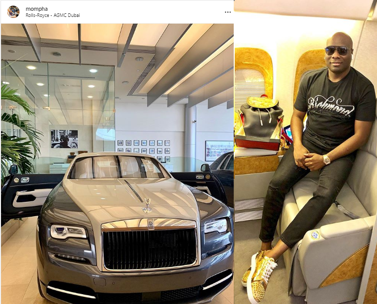 Mompha splashes N180m on the latest Rolls Royce Wraith Eagle viii 2020, claims he's the African in the World to own one (See Photo)