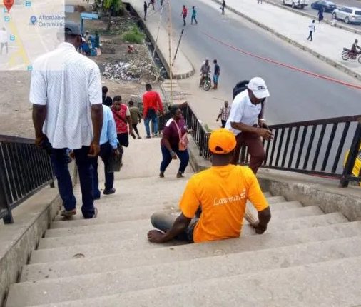 LAWMA employs 20 physically-challenged persons as sweepers of pedestrian bridges across the state