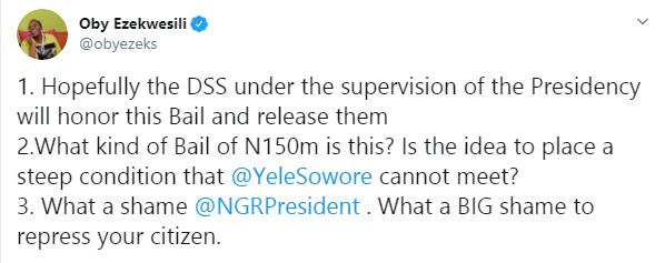 Oby Ezekwesili slams President Buhari over N100m bail to Omoyele Sowore lindaikejisblog 1