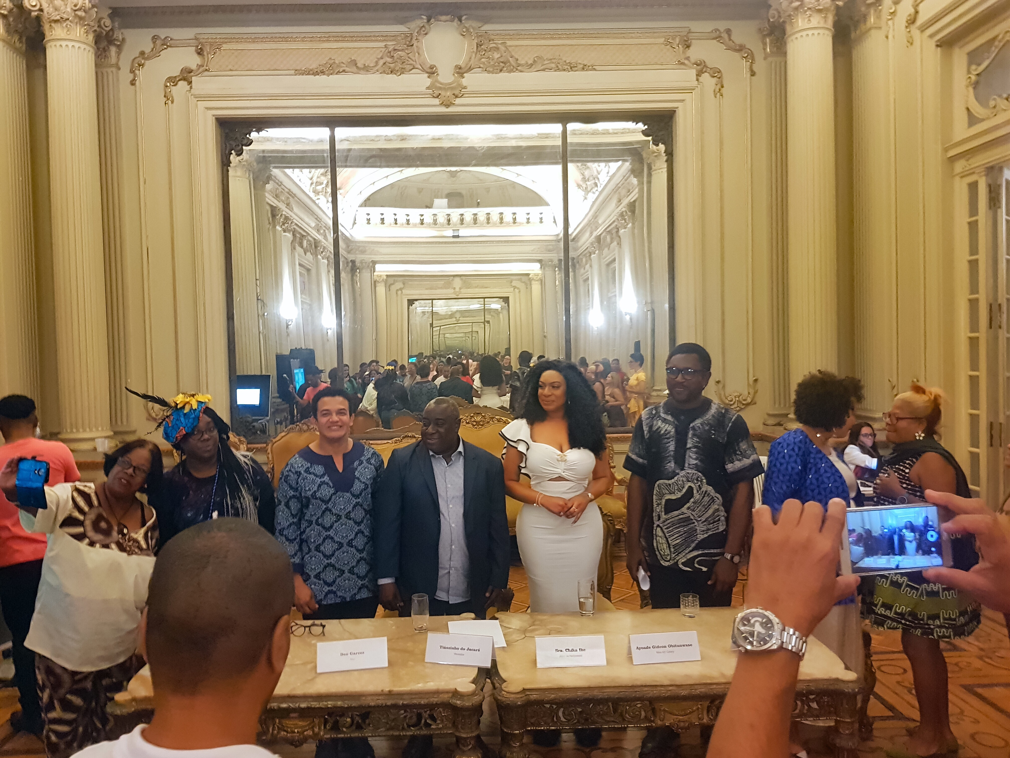 Chika Ike Speaks at an event in Brazil