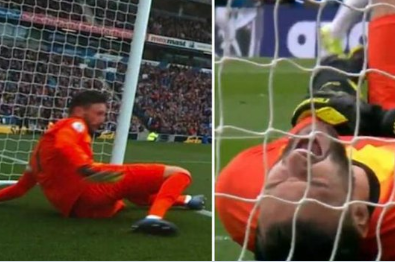 Tottenham goalkeeper, Hugo Lloris suffers horrific injury against Brighton (VIDEO)