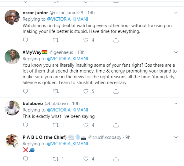 Victoria Kimani comes under fire for saying Big Brother Naija keeps people 'dormant, distracted & jobless'