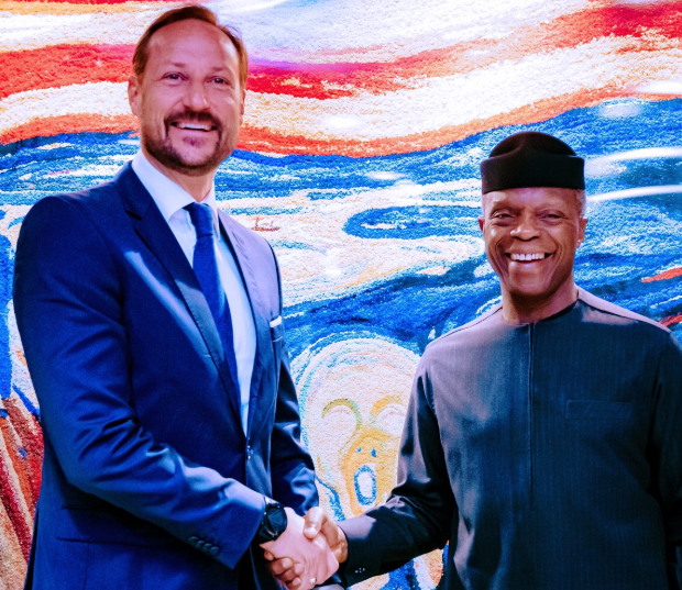 Vice-President, Yemi Osinbajomeets with H.R.H Crown Prince Haakon of Norway (Photos)
