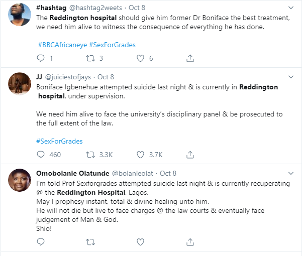 Toke Makinwa reacts as #sexforgrades lecturer, Boniface Igbenehue 'nearly commits suicide' lindaikejisblog 2