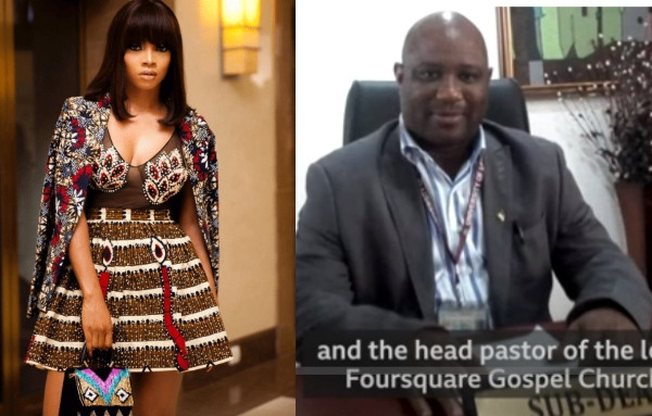 Toke Makinwa reacts as #sexforgrades lecturer, Boniface Igbenehue 'nearly commits suicide'