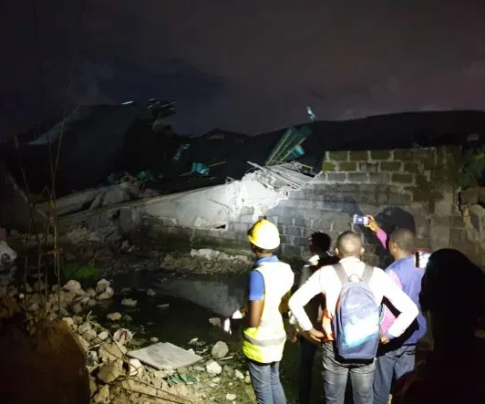 Three people injured as 3-storey building collapses in Lagos
