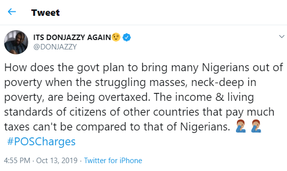 How does the government plan to bring many Nigerians out of poverty when the struggling masses are being overtaxed - Don Jazzy asks