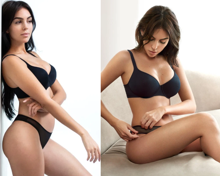 Cristiano Ronaldos stunning girlfriend Georgina Rodriguez dazzles in sexy lingerie set (Photos)