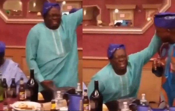 Nigerian father spotted dancing 'soapy' enthusiastically lindaikejisblog