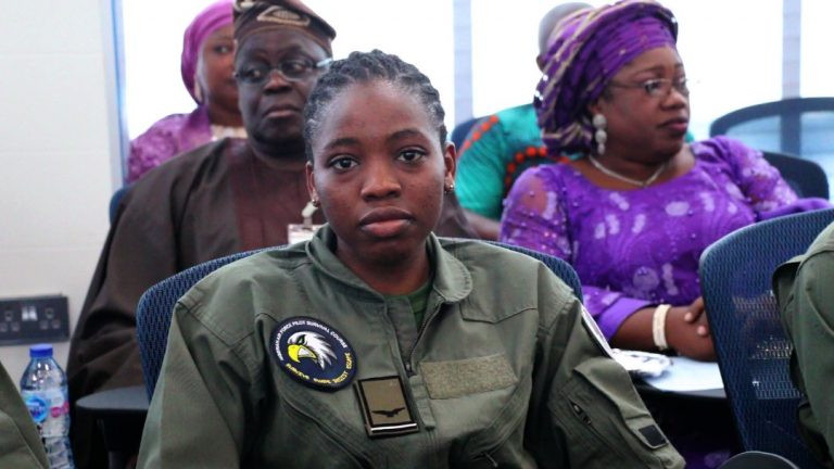 Nigerian Air Force decorates first female combat pilot and first female helicopter pilot lindaikejisblog  1